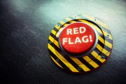 Red Flag! Button